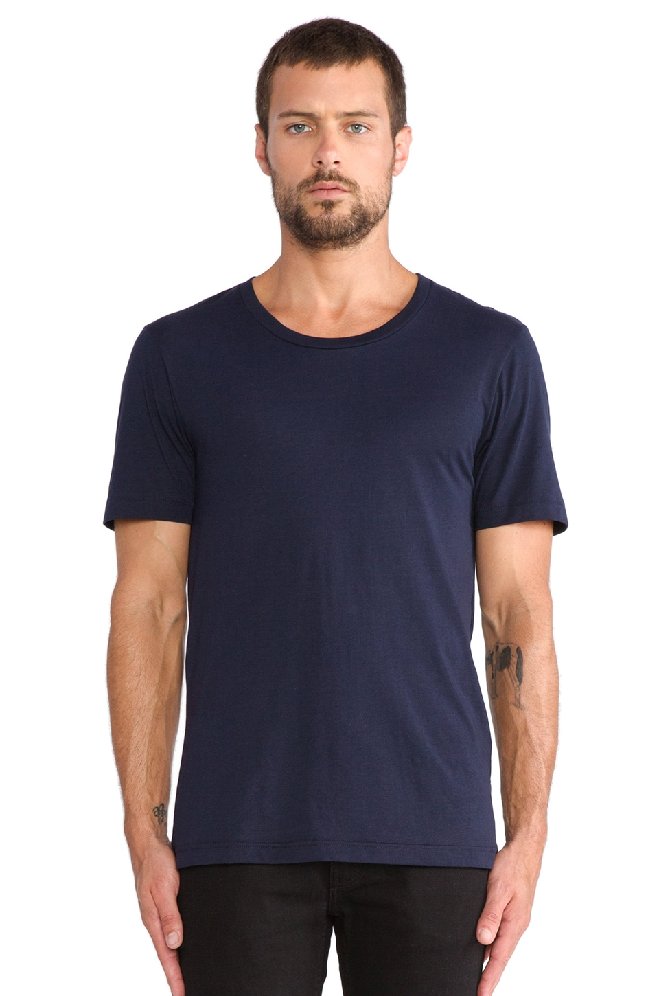 BLK DNM T-Shirt 3 in Navy Blue