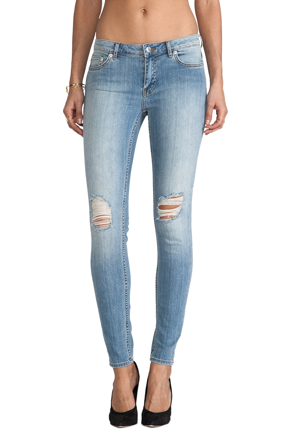 BLK DNM Jeans 26 in Stagg Blue