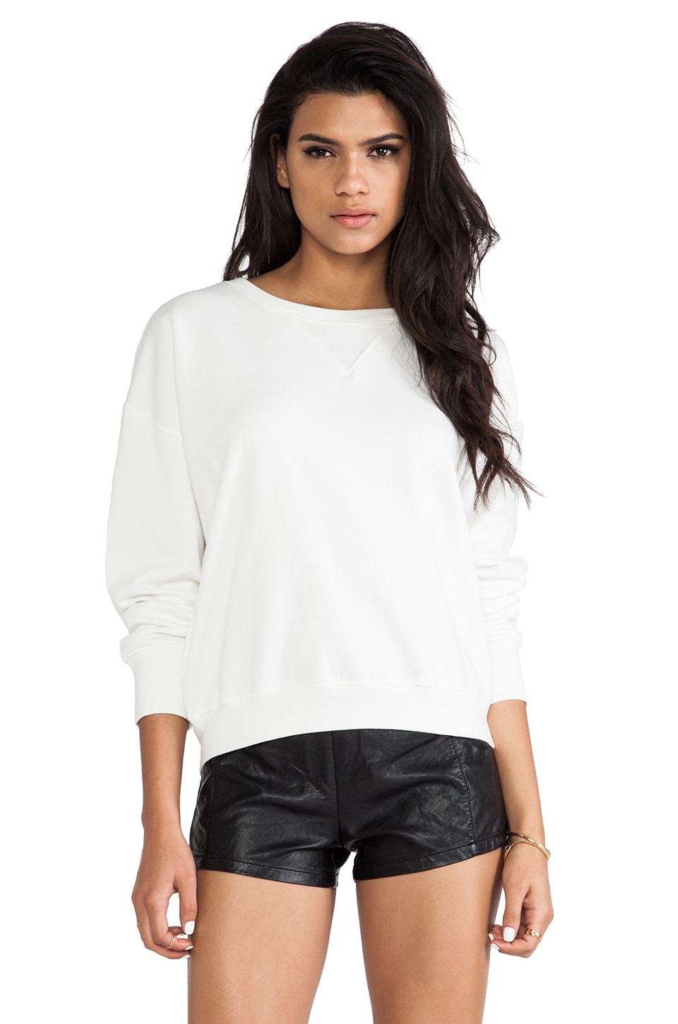 BLK DNM Sweatshirt 6 in Milk