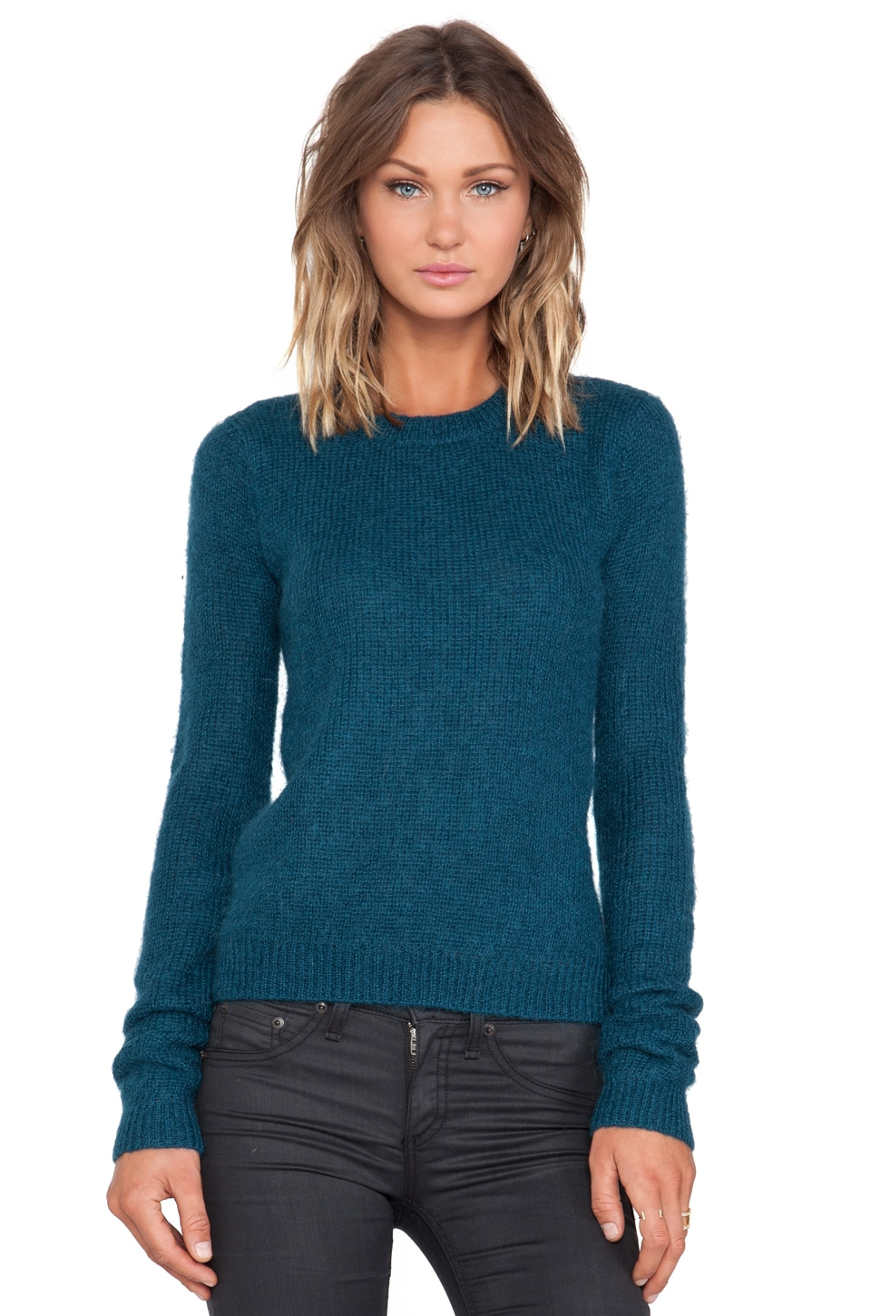 BLK DNM Sweater 21 in Emerald Blue