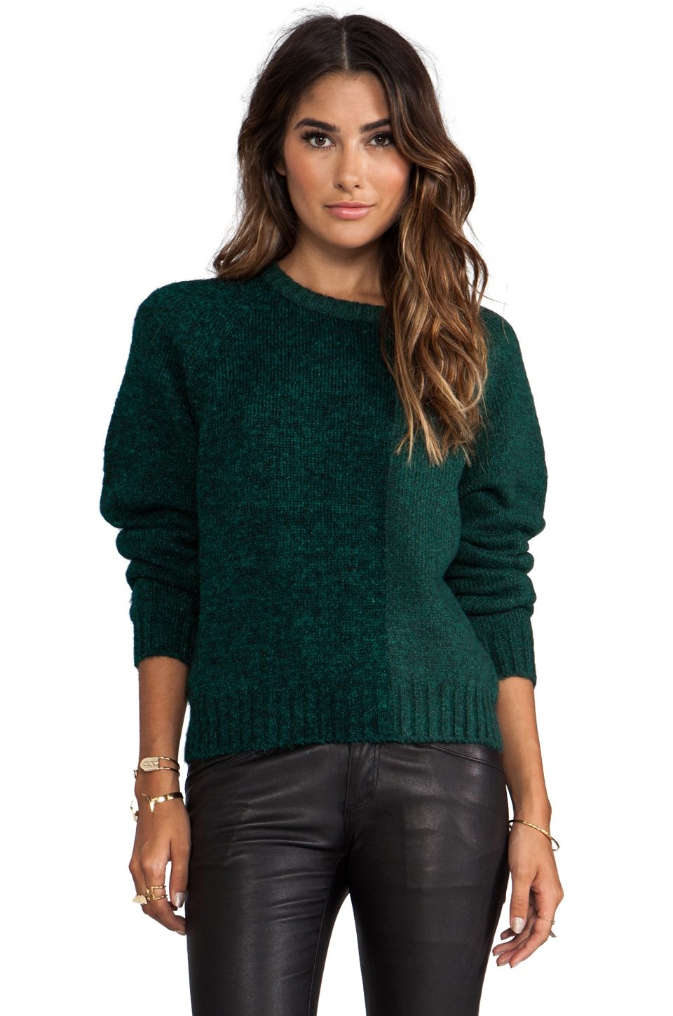 BLK DNM Sweater 46 in Pine Green