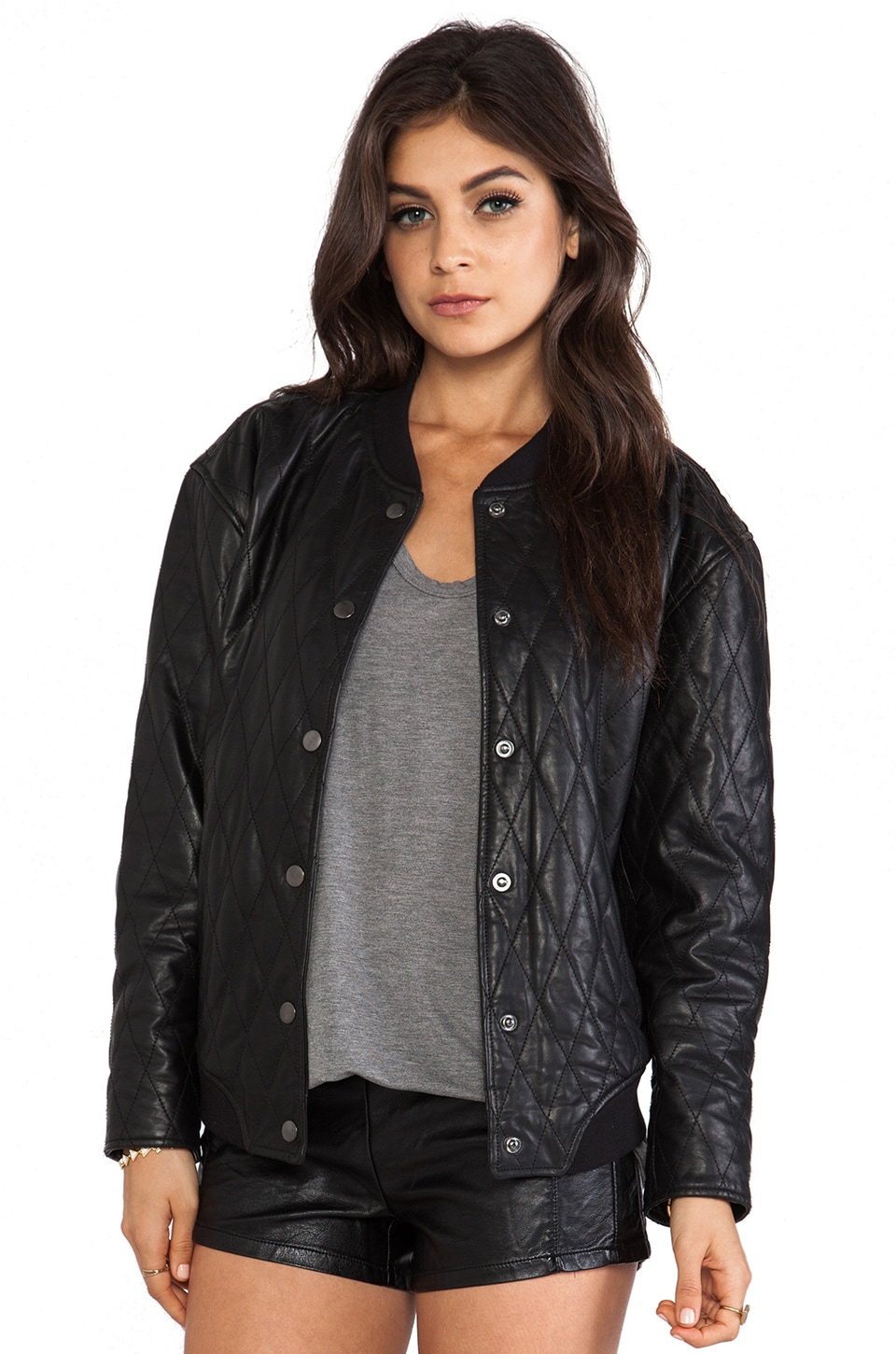 BLK DNM Leather Jacket 72 in Black