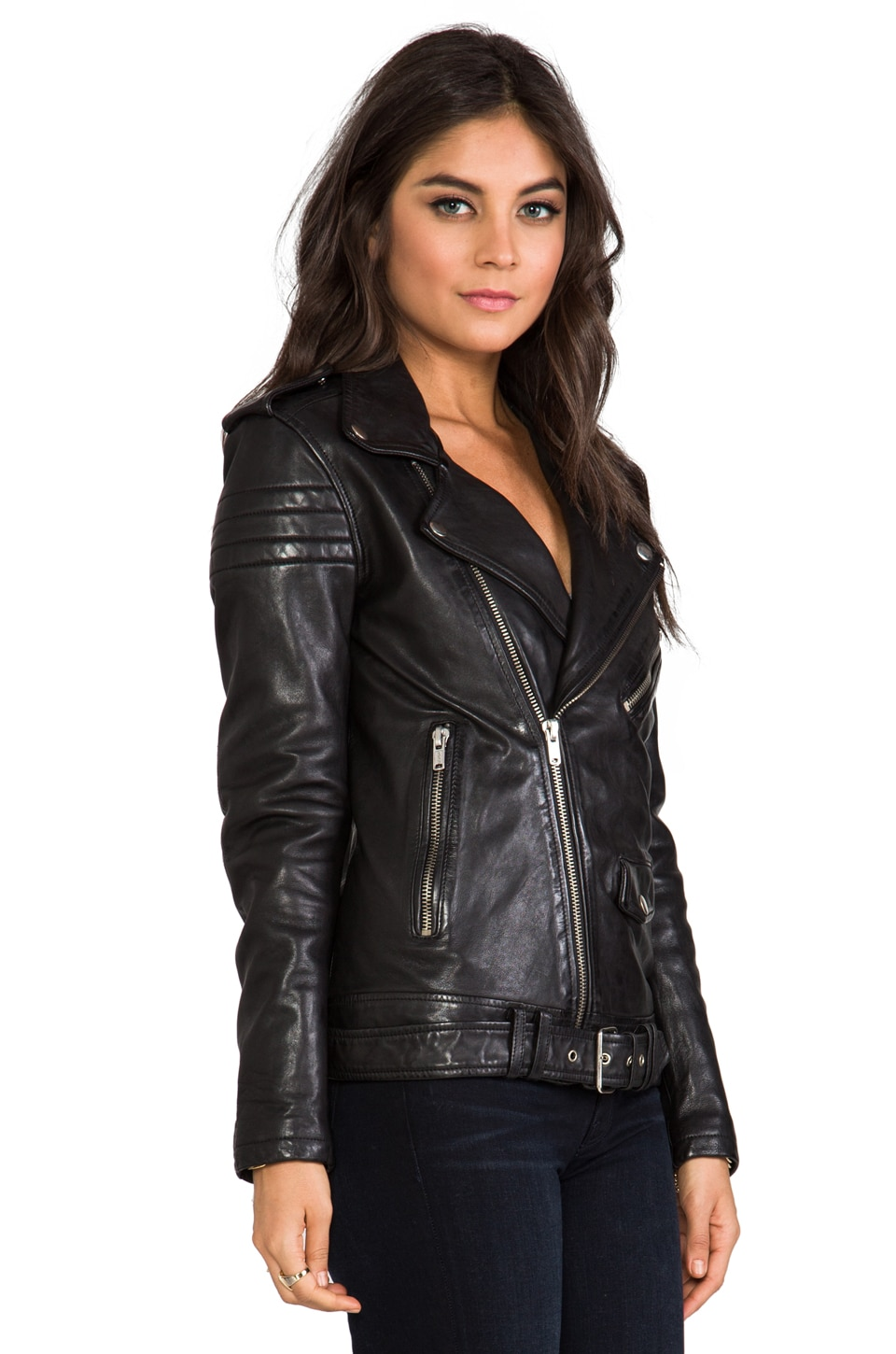 BLK DNM Leather Jacket 8 in Black