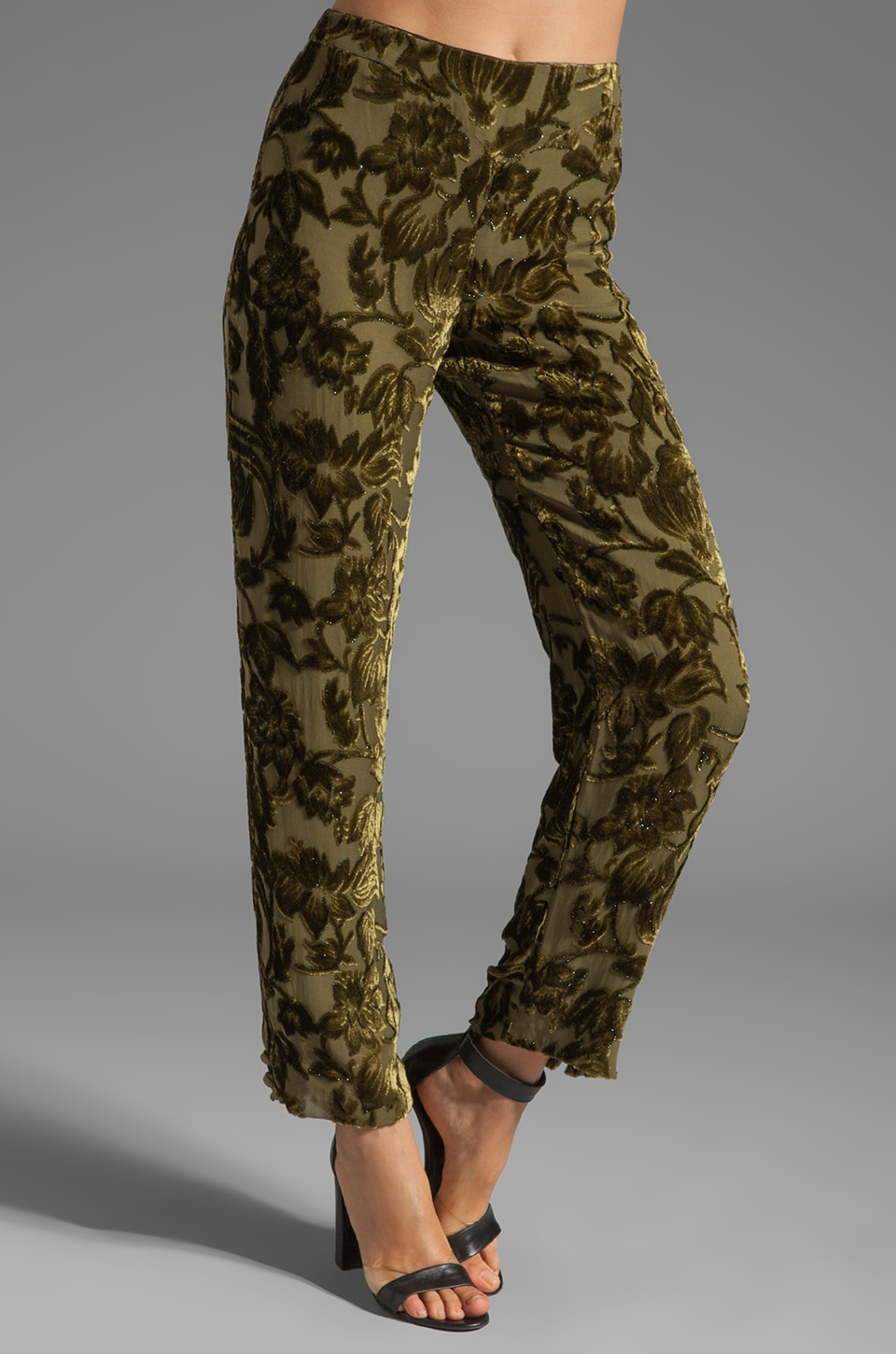 BLK DNM Pant 24 in Dark Moss Green
