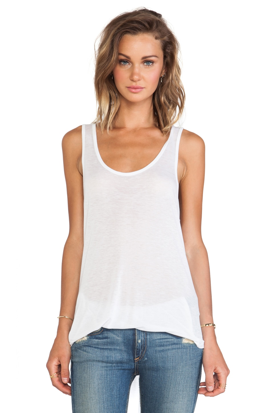 BLK DNM Tank 16 in White