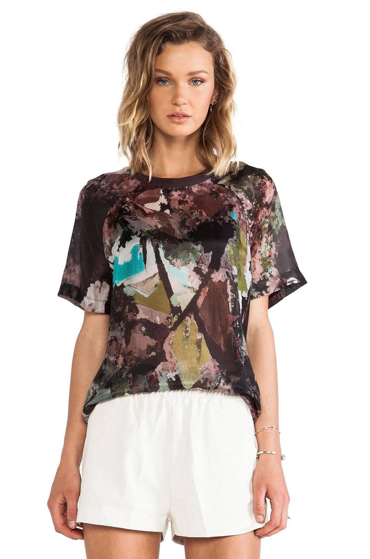 BLK DNM T-Shirt 18 in Mauve Print