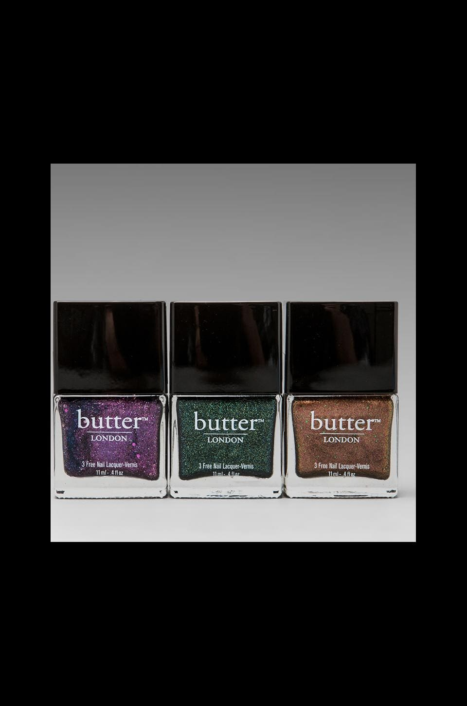 butter LONDON Holiday Glitter Trio Set in Shambolic/Jack the Lad/Scuppered
