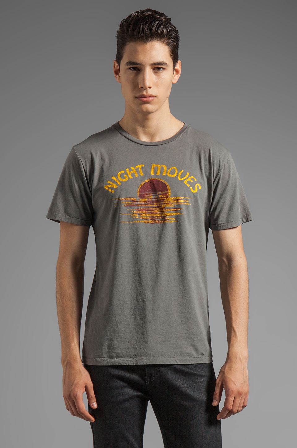 BLOOD IS THE NEW BLACK Nigh Moves MC Tee in Charcoal Grey