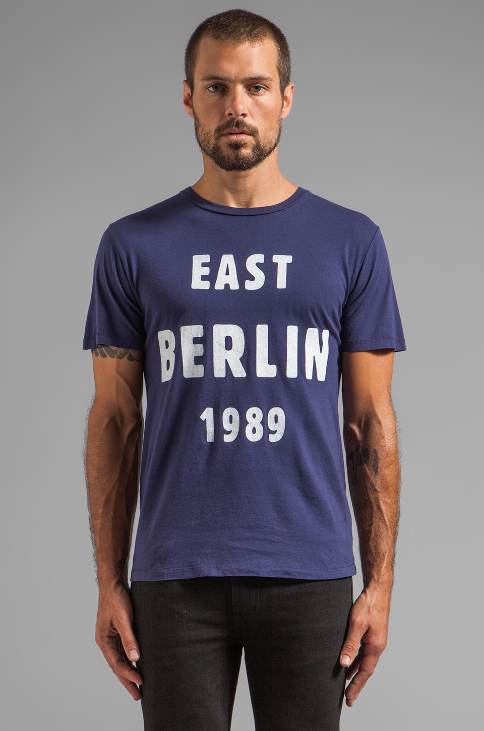 BLOOD IS THE NEW BLACK East Berlin '89 Tee in Peacoat