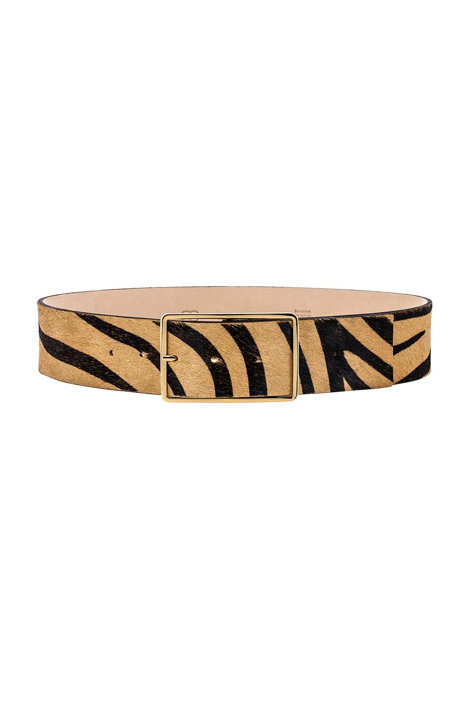 B-Low the Belt Milla Waist Calf Hair Belt in Maxi Zebra & Gold