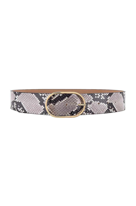 B-Low the Belt Emmie Python Belt in White & Gold