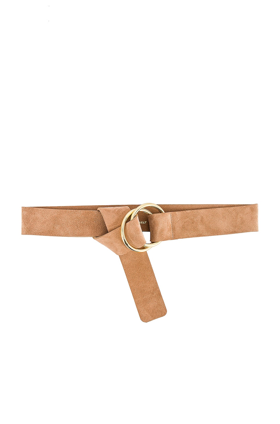 B-Low the Belt Tumble Suede Belt in Sand & Gold