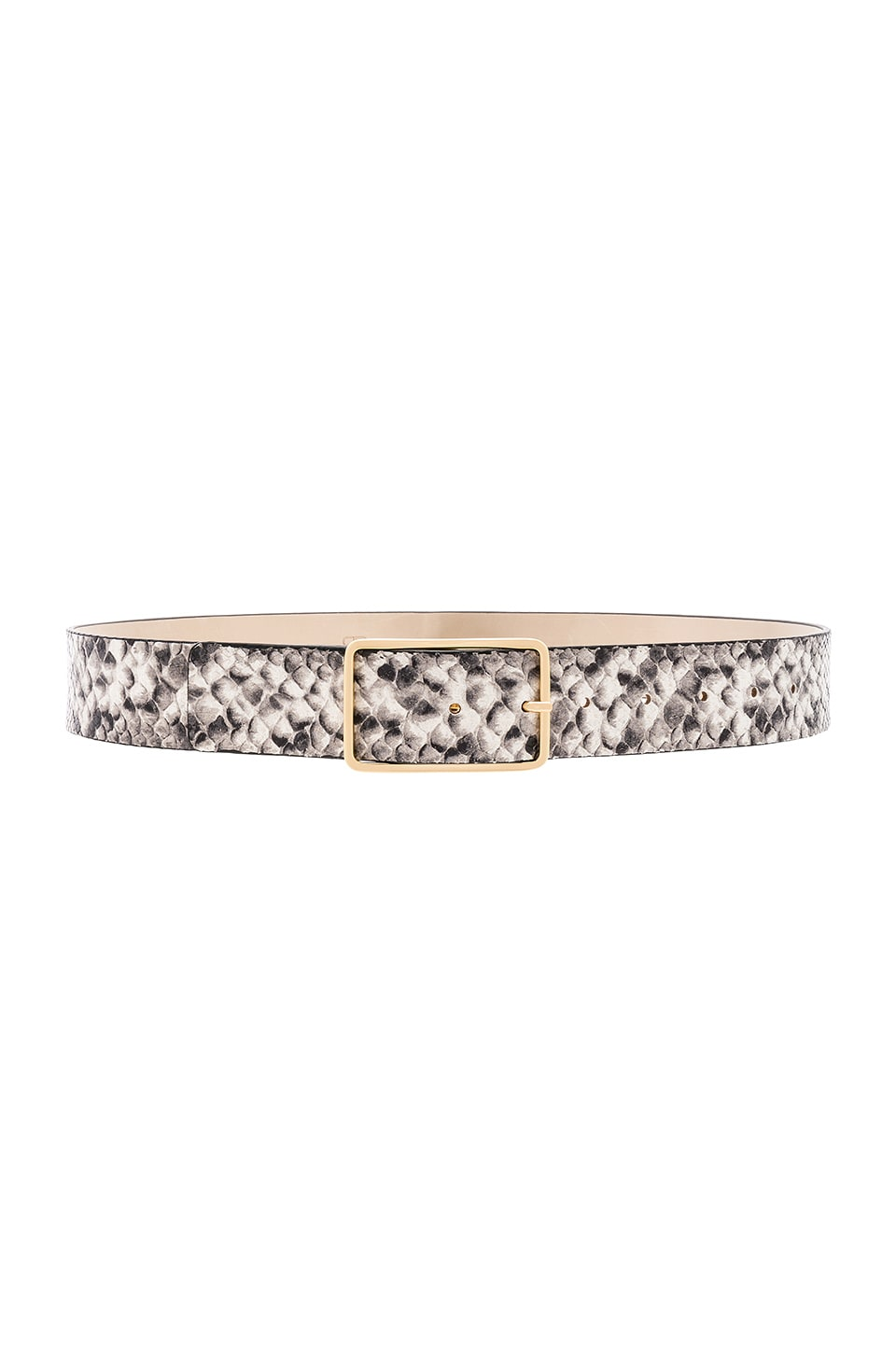B-Low the Belt Milla Python Belt in White & Gold