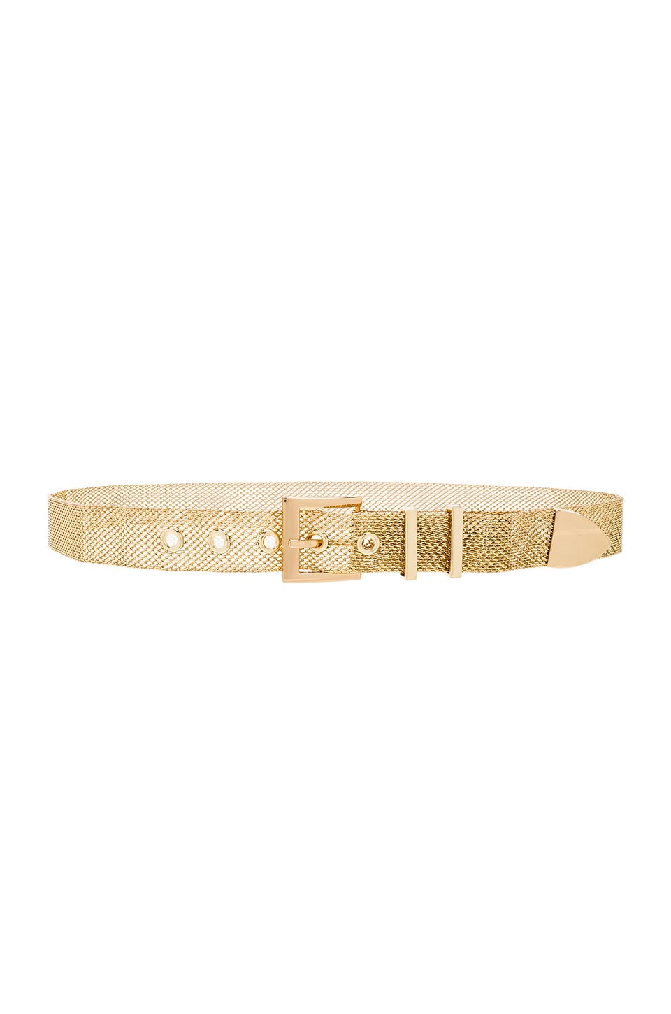 B-Low the Belt Richie Metal Mesh Belt in Gold