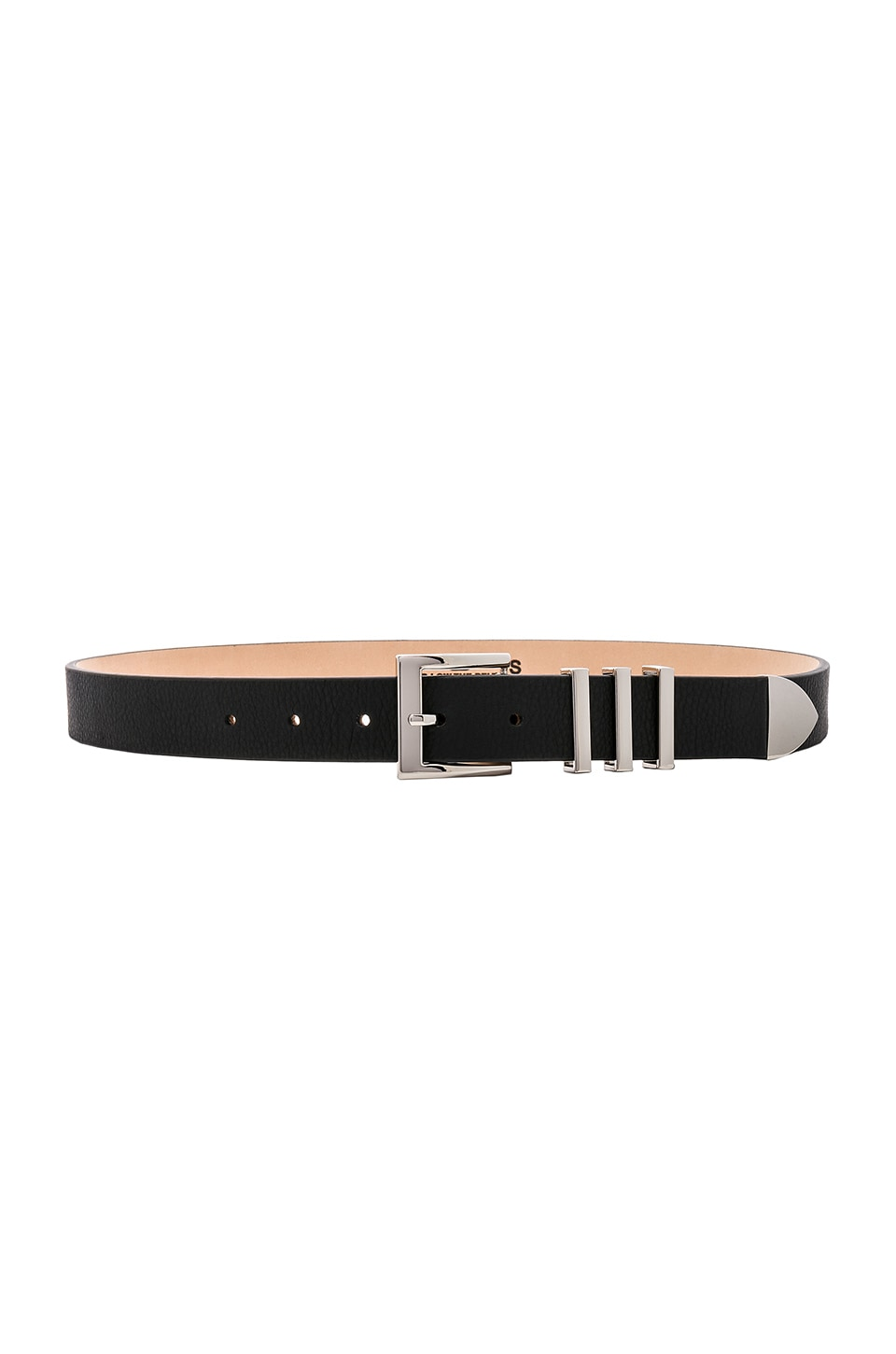 B-Low the Belt Richie Belt in Black & Silver