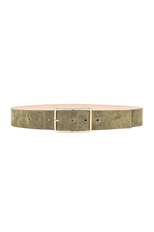 B-Low the Belt Milla Suede Belt in Moss & Gold