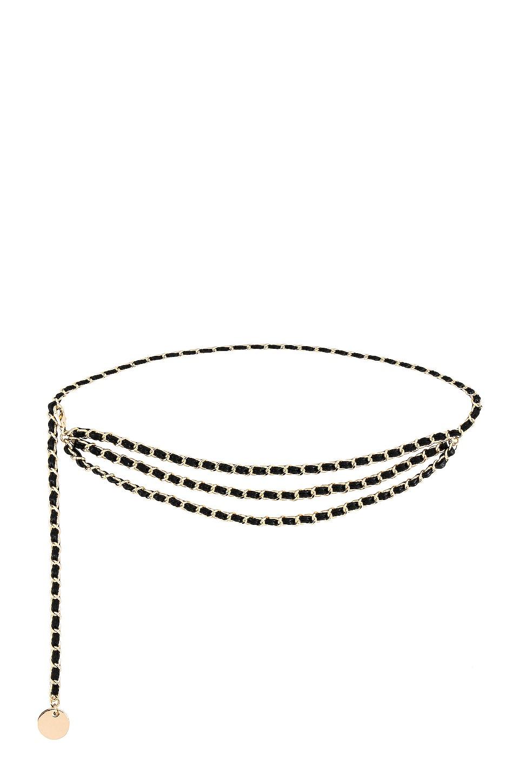 B-Low the Belt Gissel Mini Belt in Black & Gold