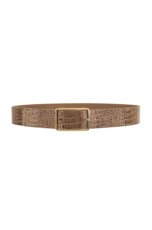 B-Low the Belt Milla Croco Belt in Smoke & Gold