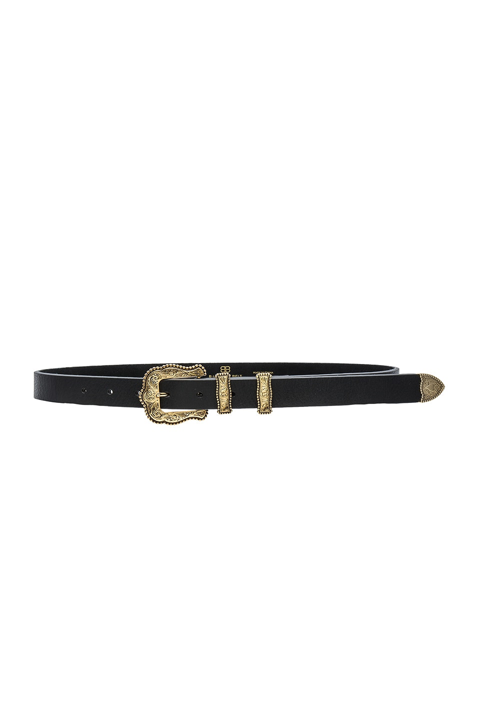 B-Low the Belt Baby Dakota Belt in Black & Gold