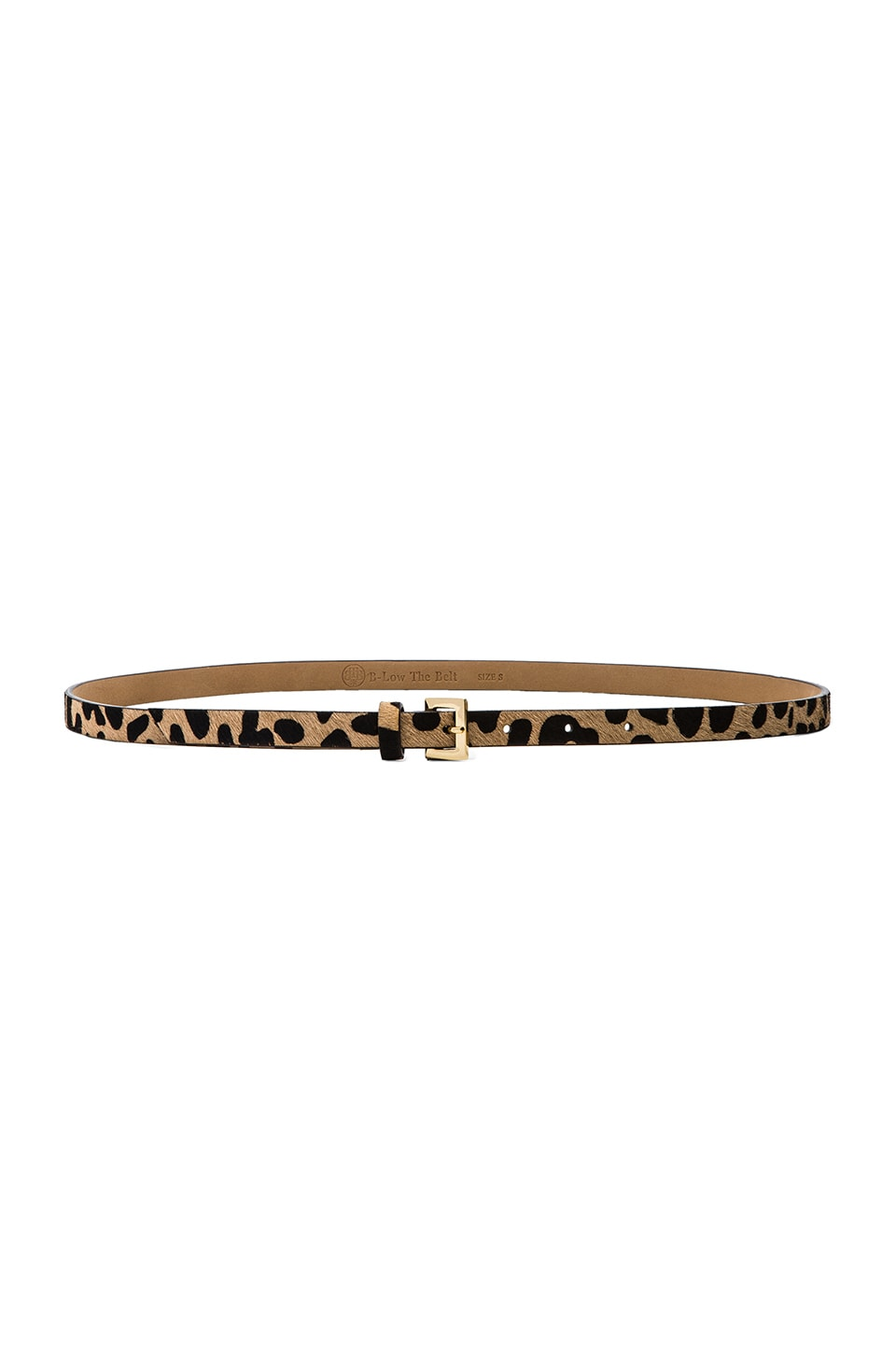 B-Low the Belt Leopard Skinny Belt in Leopard