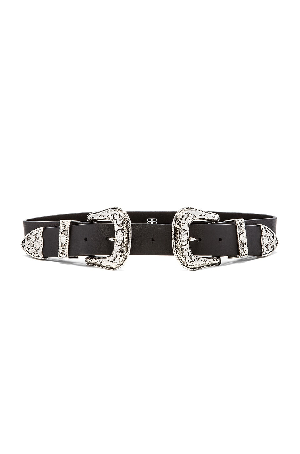 B-Low the Belt Bri Bri Waist Belt in Black & Silver