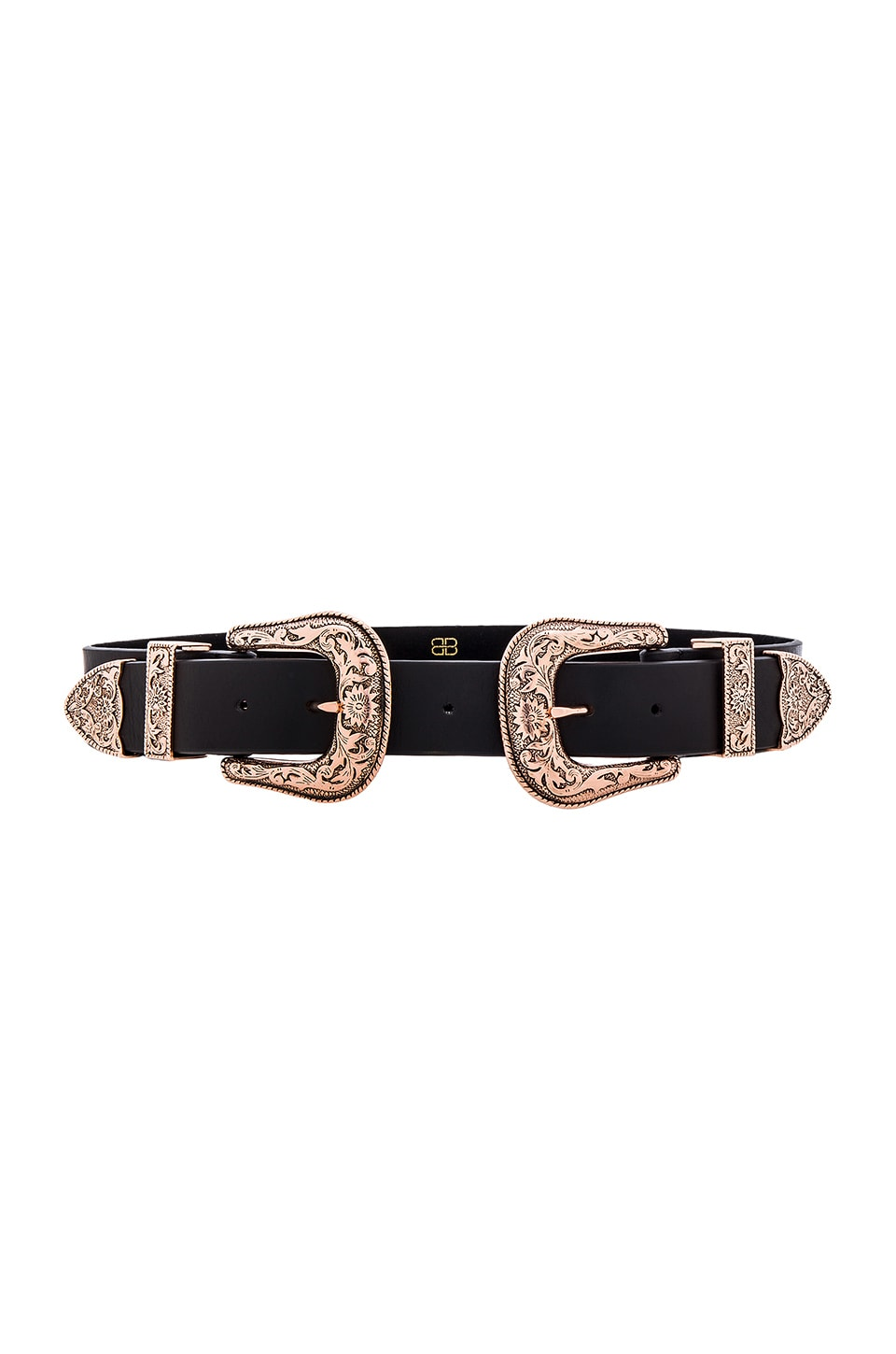 B-Low the Belt Bri Bri Waist Belt in Black & Rose Gold