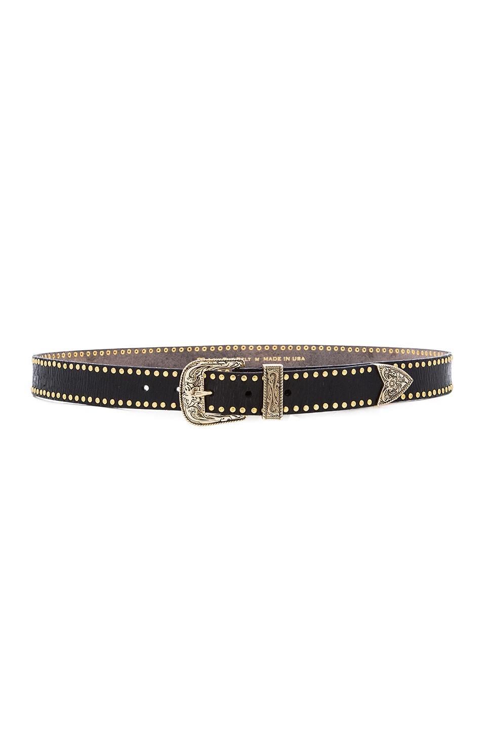 B-Low the Belt Palladium Belt in Black & Gold