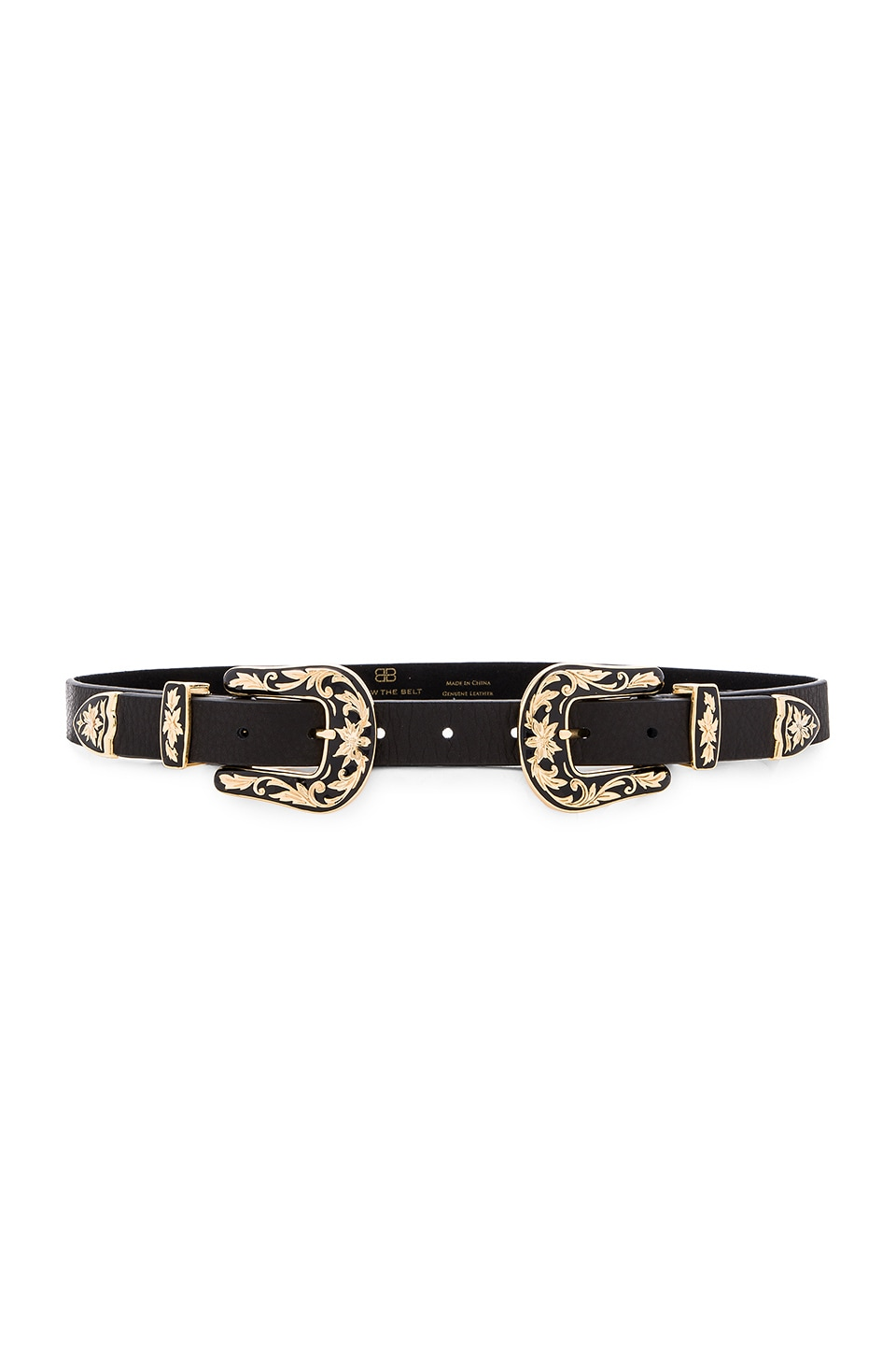 B-Low the Belt Baby Bri Bri Enamel Hip Belt in Black & Gold