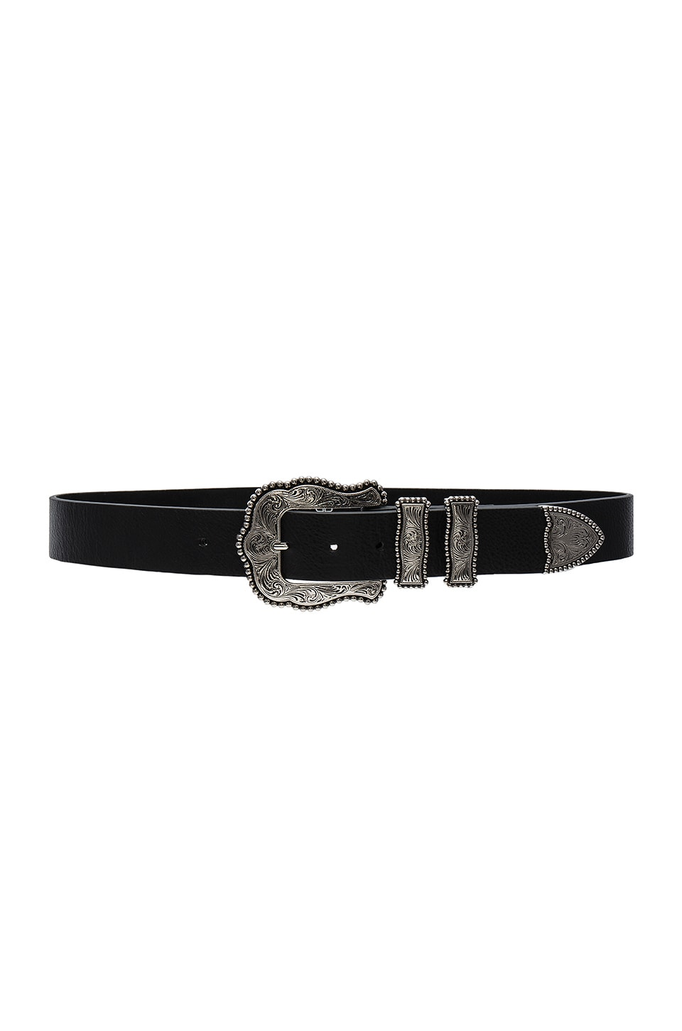 B-Low the Belt Dakota Belt in Black & Silver