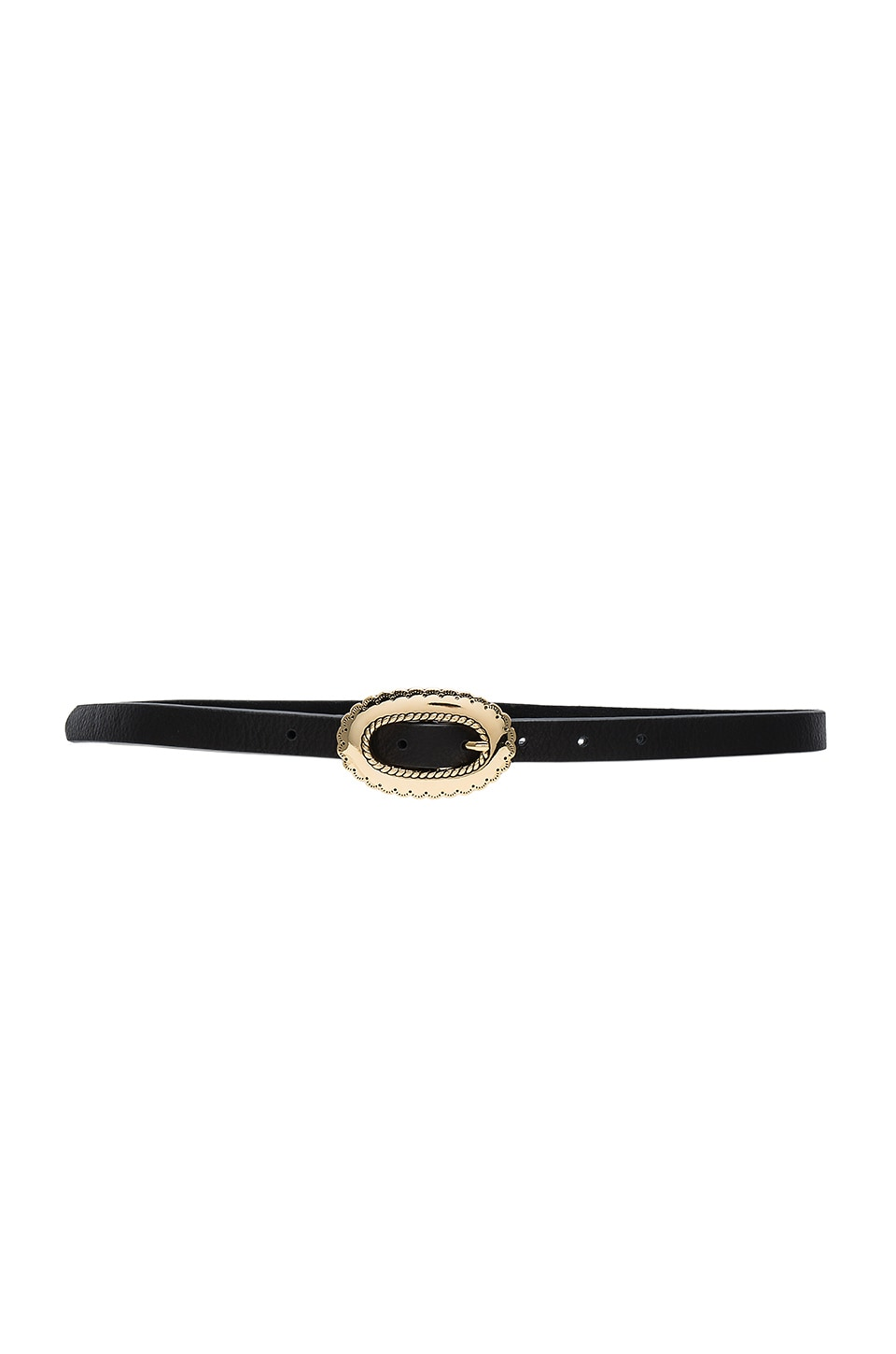 B-Low the Belt Napa Belt in Black & Gold