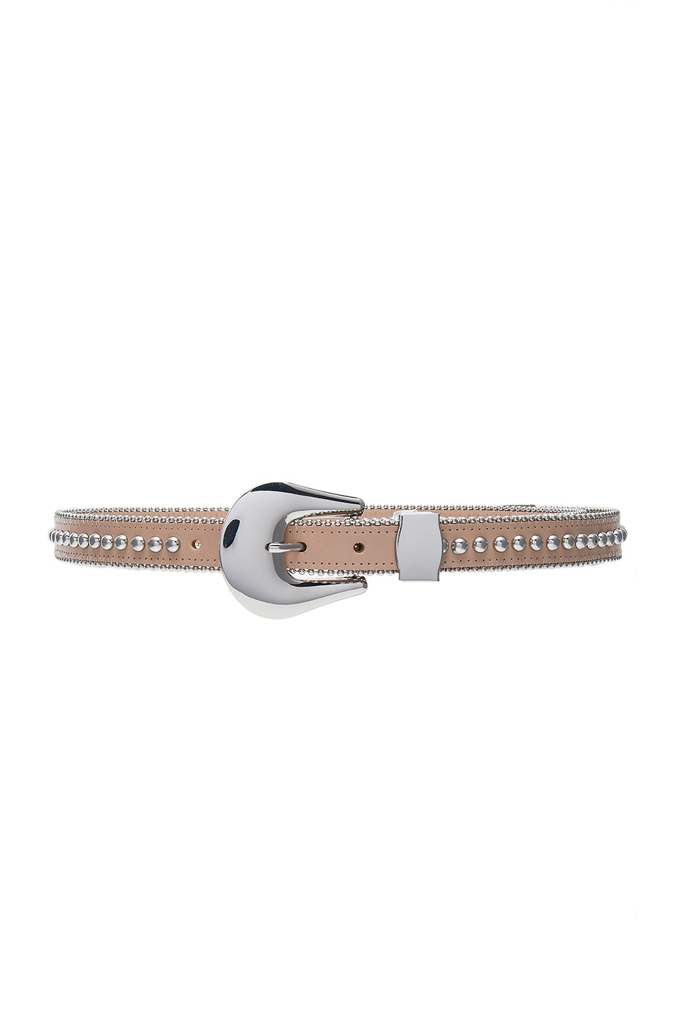 B-Low the Belt Barcelona Belt in Almond & Silver