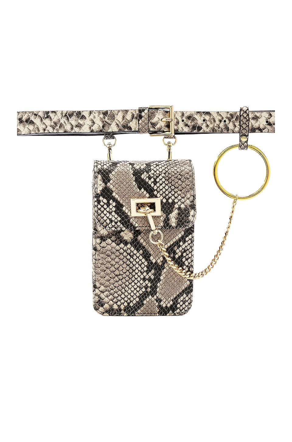 B-Low the Belt Ari Python Belt Bag in White Gold