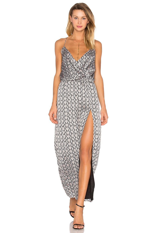 Snake Print Side Slit Dress by BLQ BASIQ