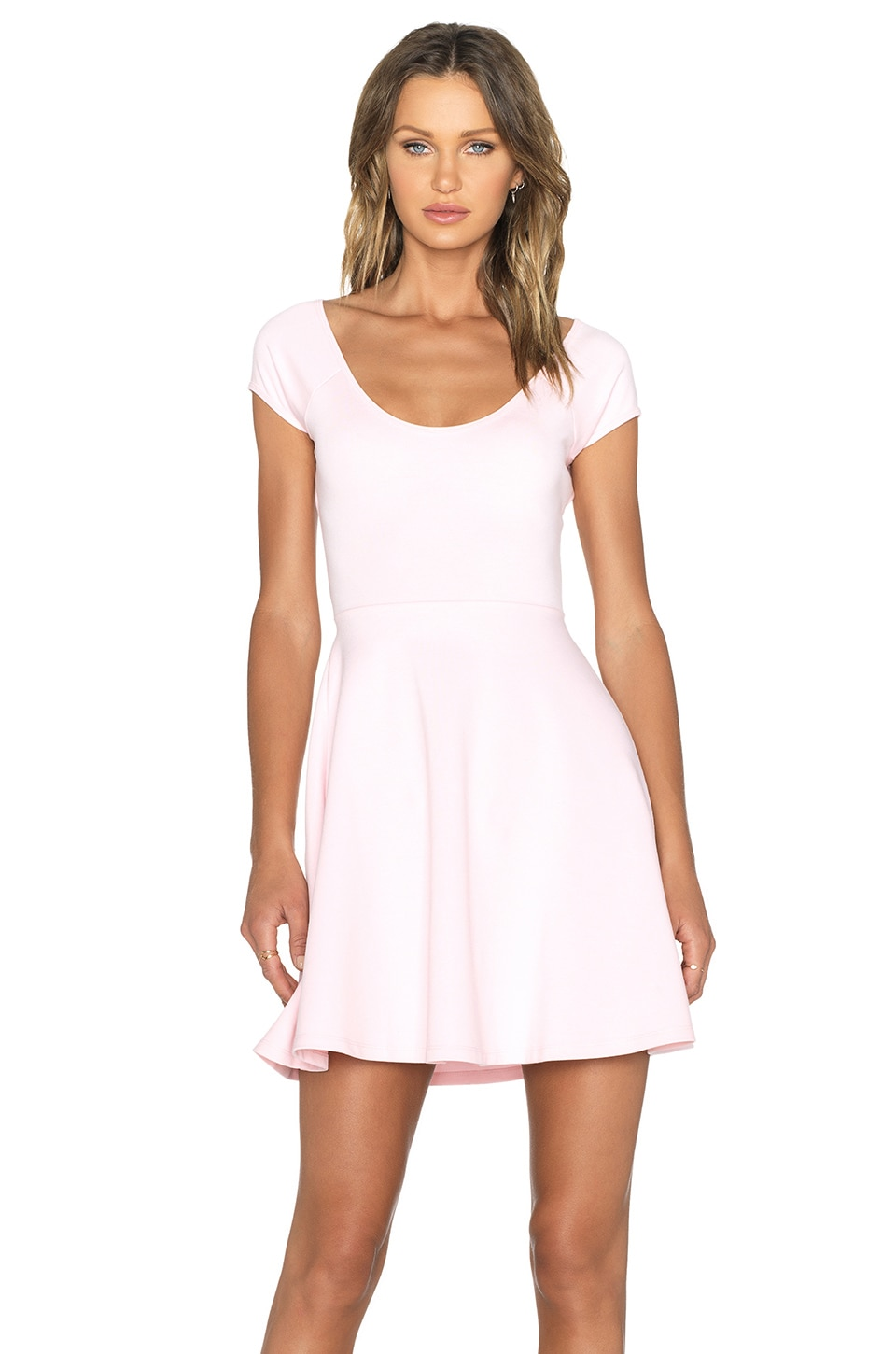 BLQ BASIQ Mini Dress in Light Pink