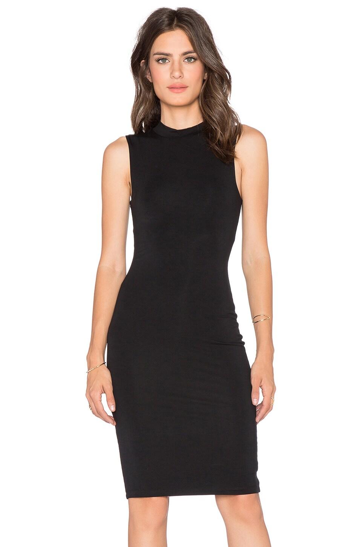 BLQ BASIQ High Neck Midi Dress in Black