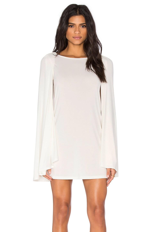 BLQ BASIQ Cape Dress in White