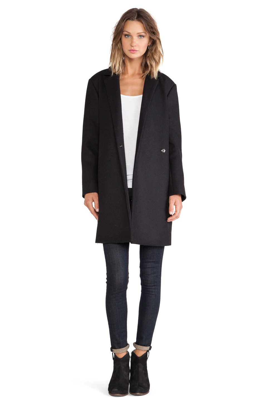 BLQ BASIQ Long Coat in Black