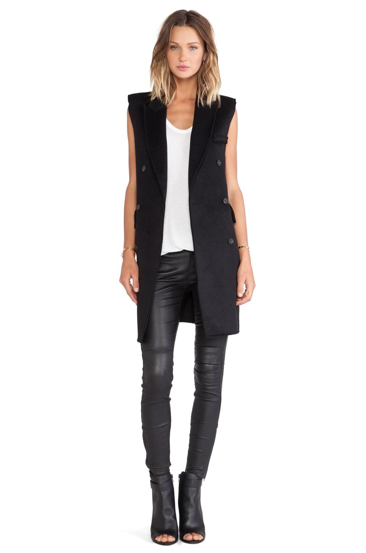BLQ BASIQ Sleeveless Jacket in Black