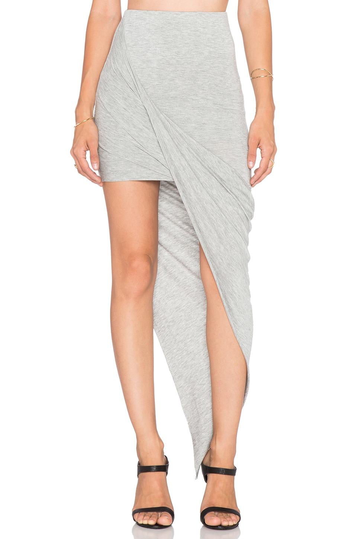 BLQ BASIQ Asymmetrical Skirt in Grey