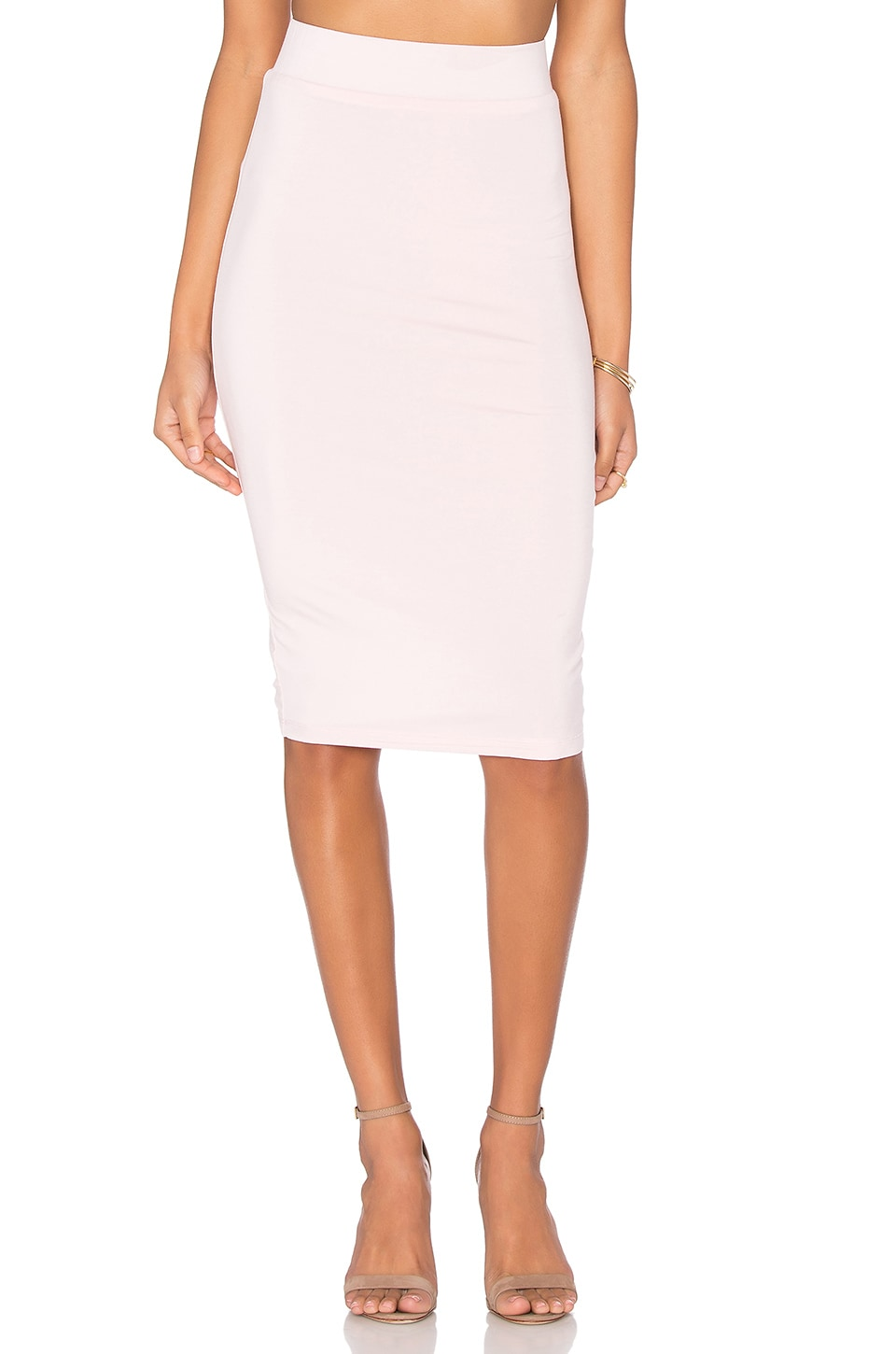 BLQ BASIQ Pencil Skirt in Light Pink