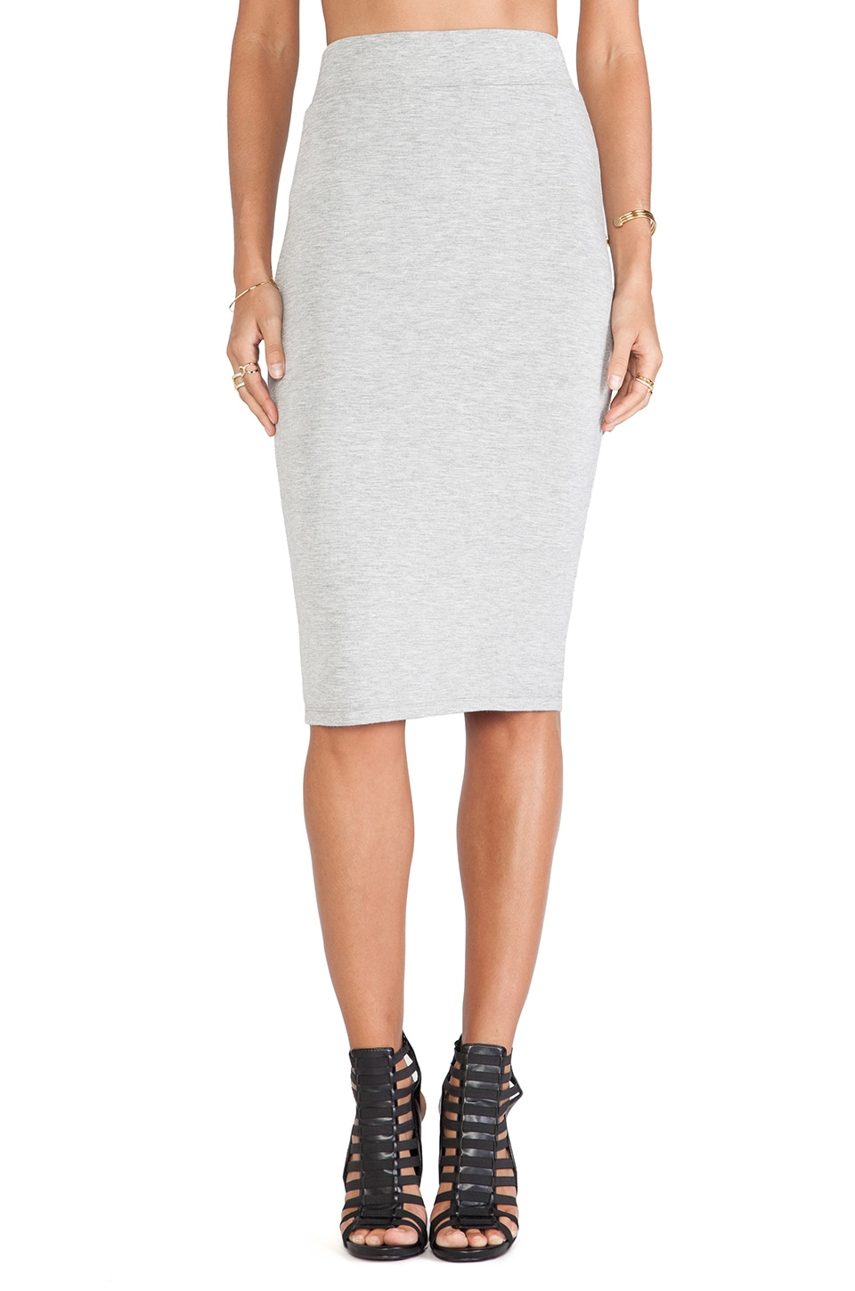 BLQ BASIQ High Waisted Skirt in Grey