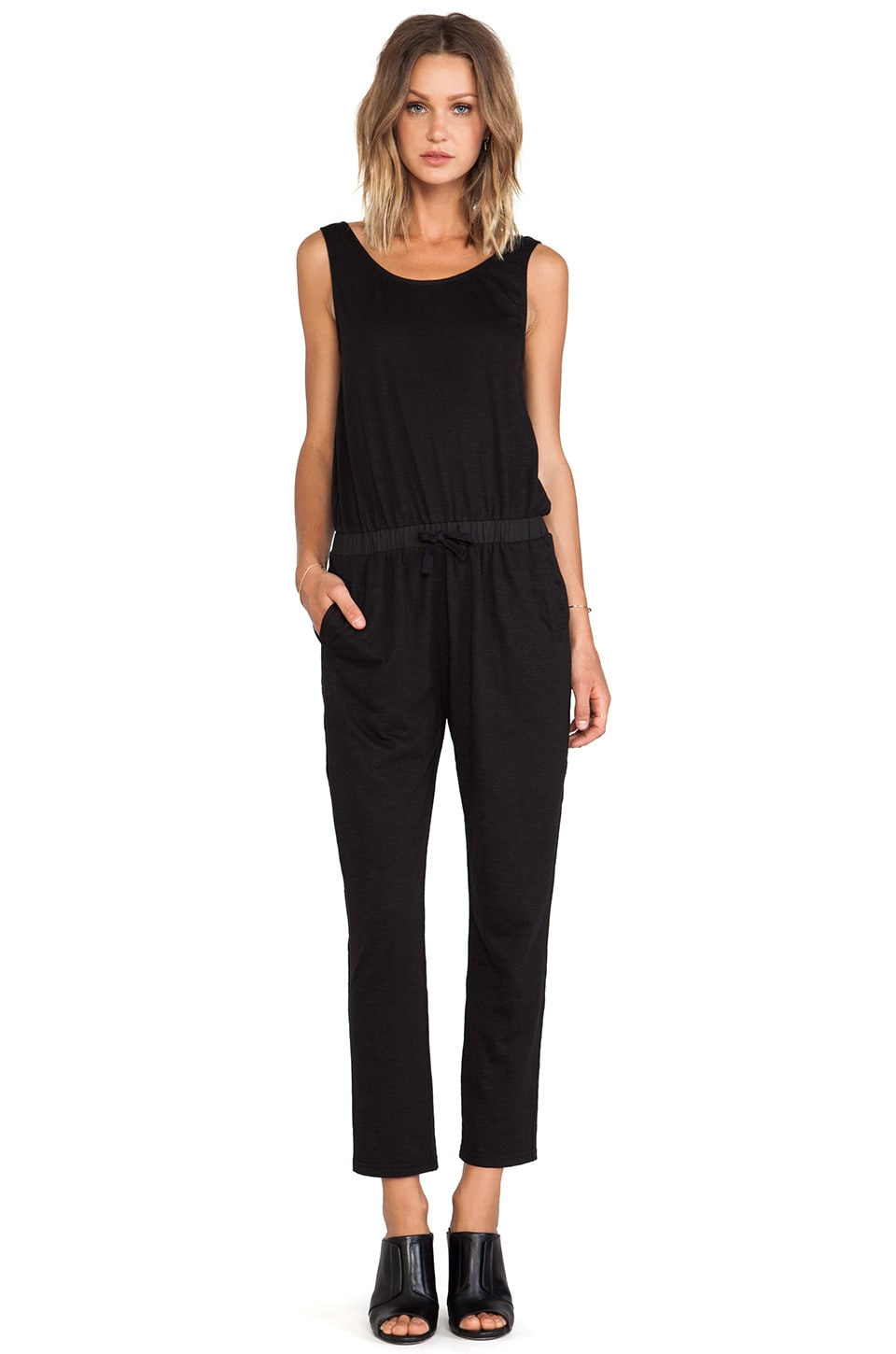 BLQ BASIQ BLQ Basics Scoop Back Jumpsuit in Black