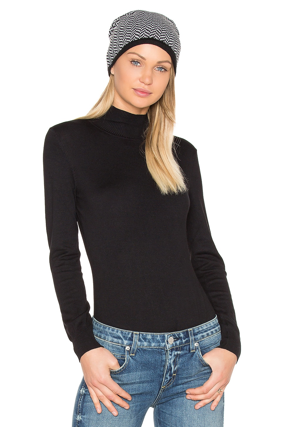 BLQ BASIQ Turtleneck Bodysuit in Black