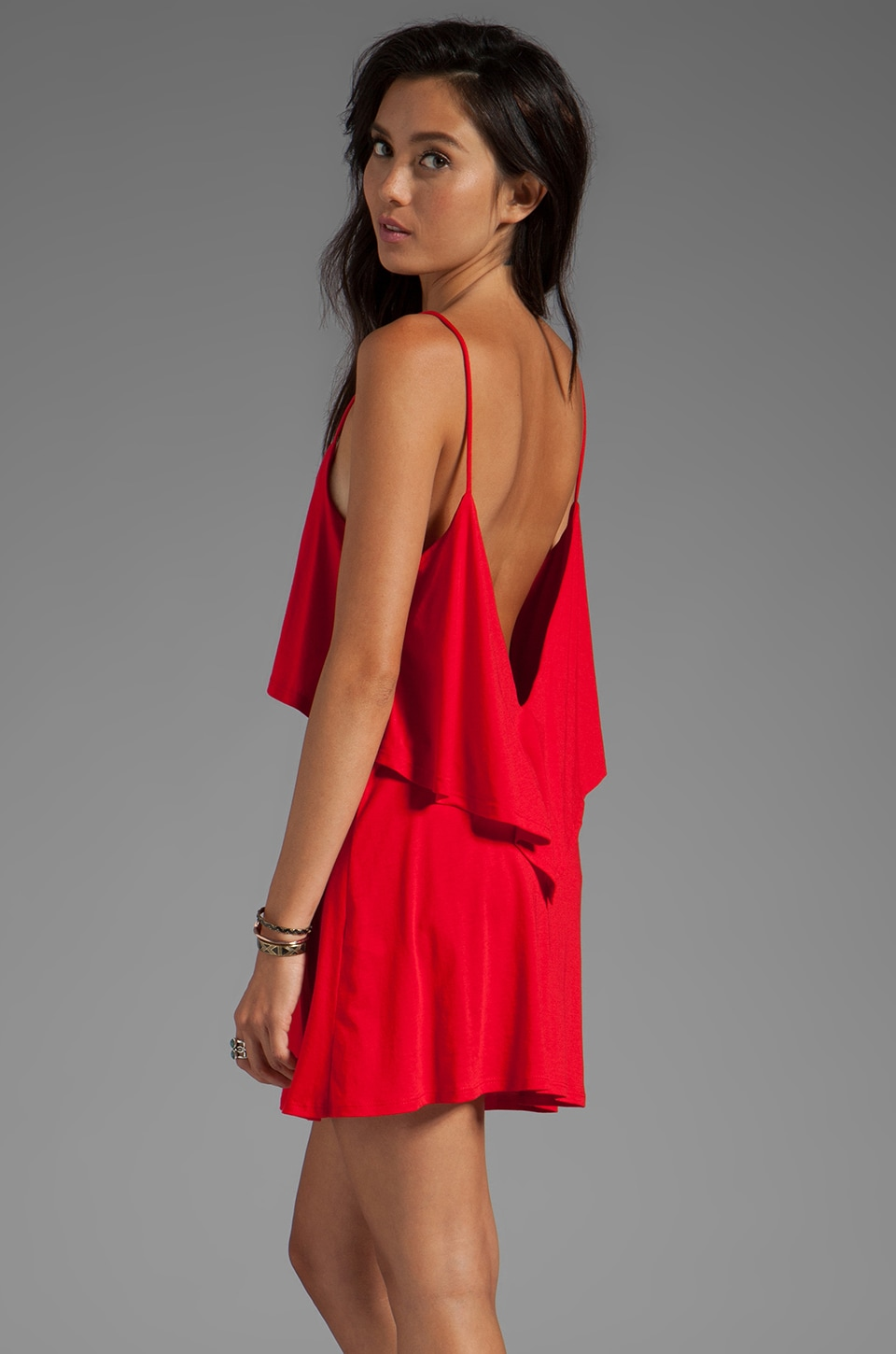 Blue Life Bachelorette Dress in Red