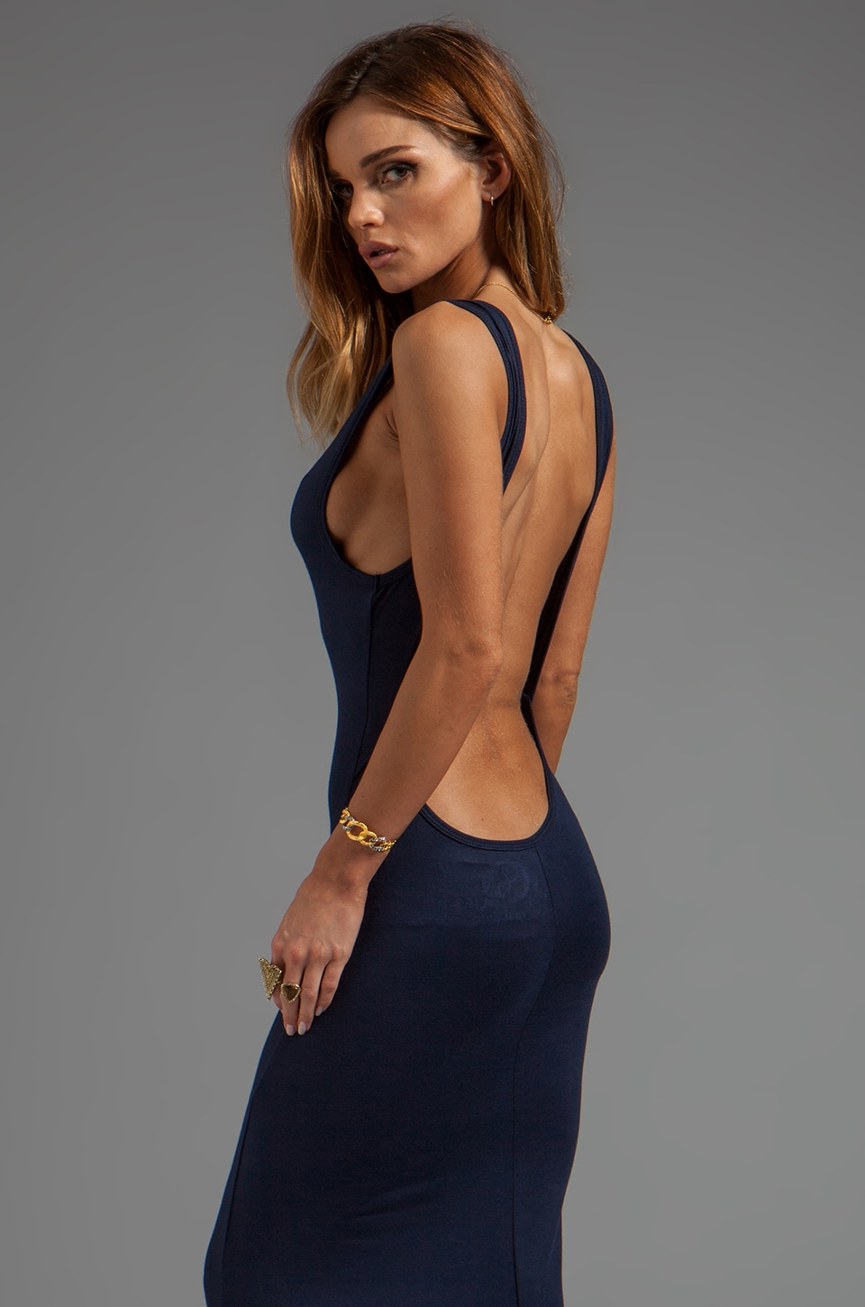 Blue Life EXCLUSIVE Open Back Maxi in Navy