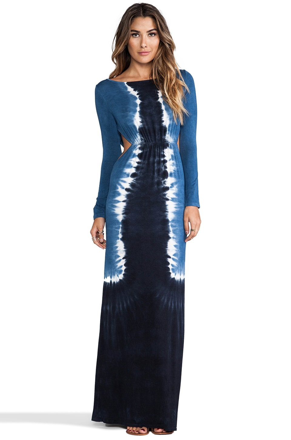 Blue Life Magnum Maxi in Faded Black Tie Dye