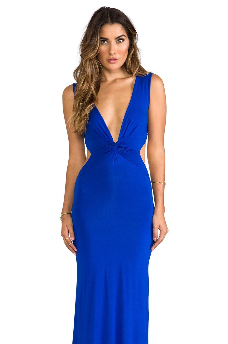 Blue Life Sleeveless Long BB Dress in Cobalt