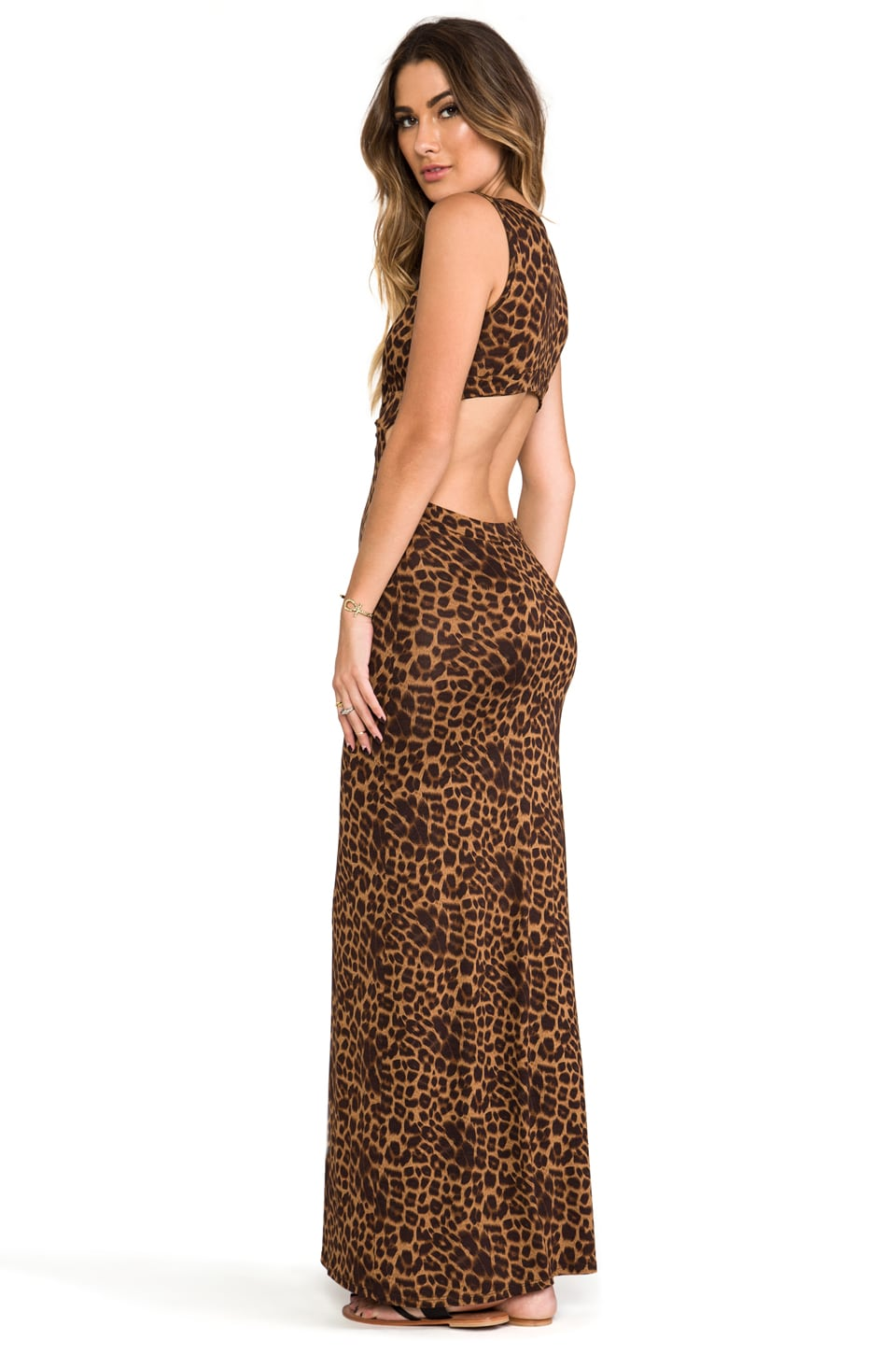 Blue Life BB Long Dress in Leopard