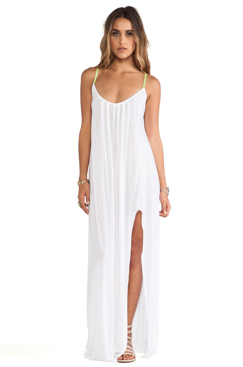 Blue Life Festival Maxi Dress in White