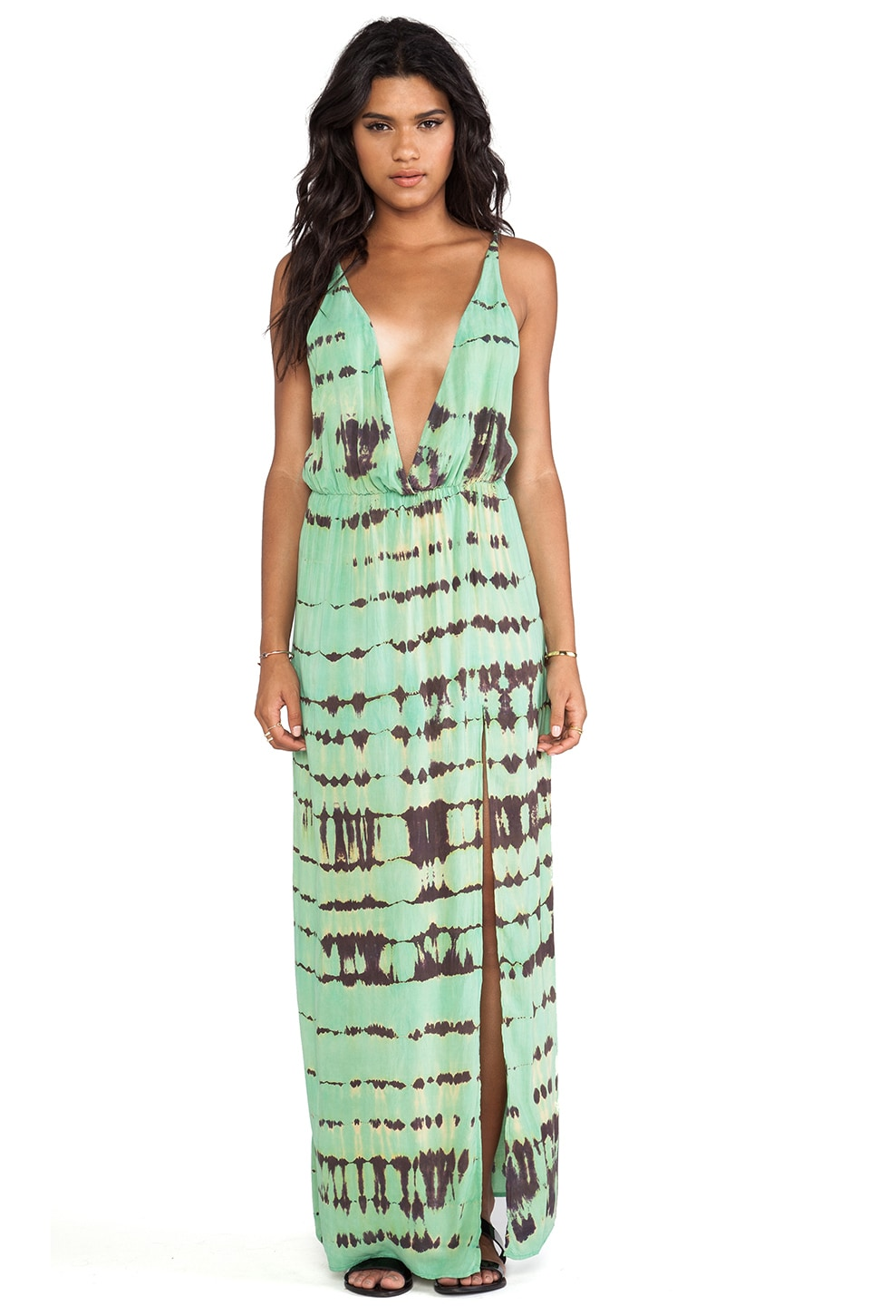 Blue Life High Tide Maxi Dress in Turquoise